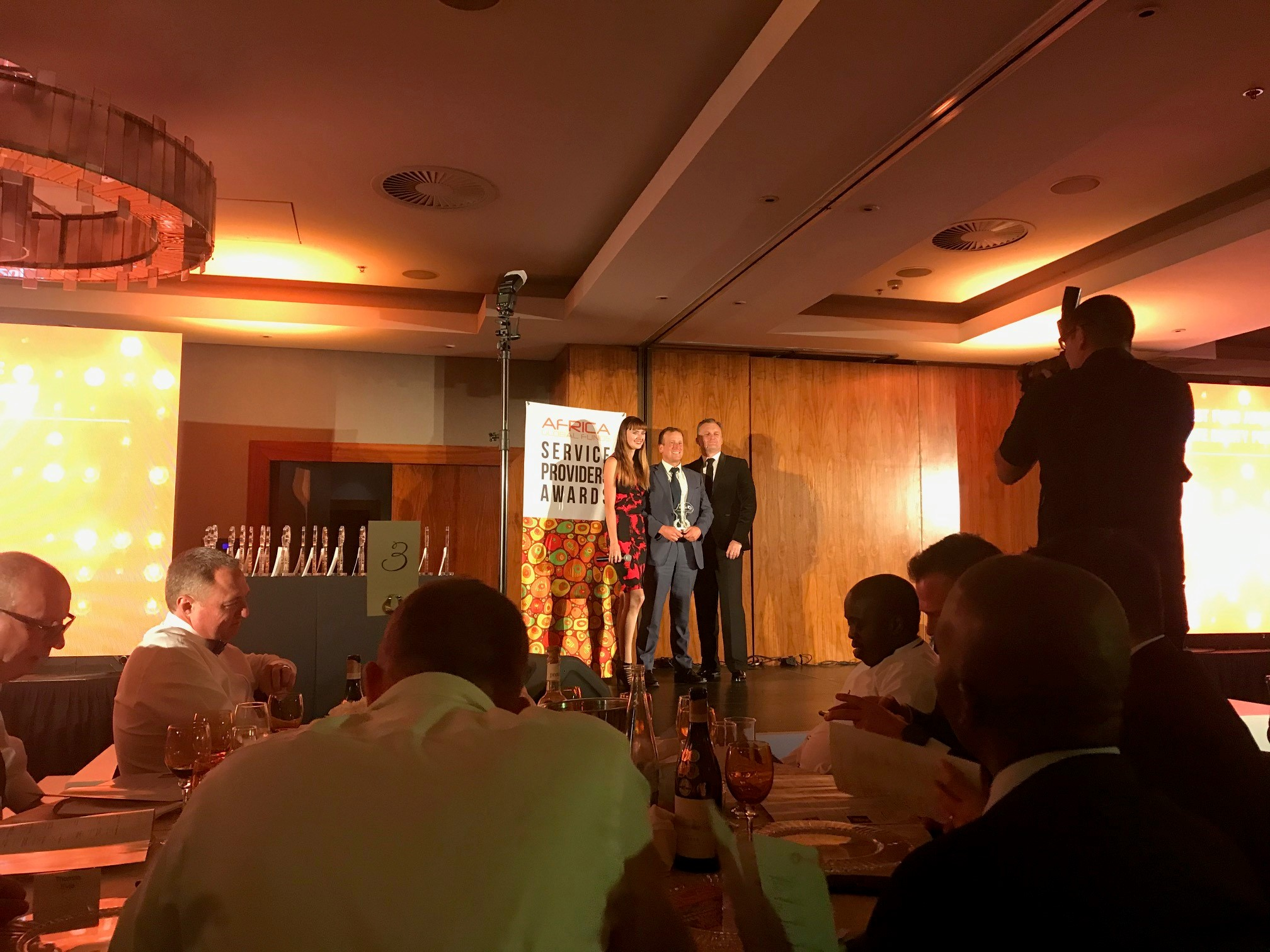 Managing Director of IQ-EQ South Africa, Charles Buchanan, collecting the award
