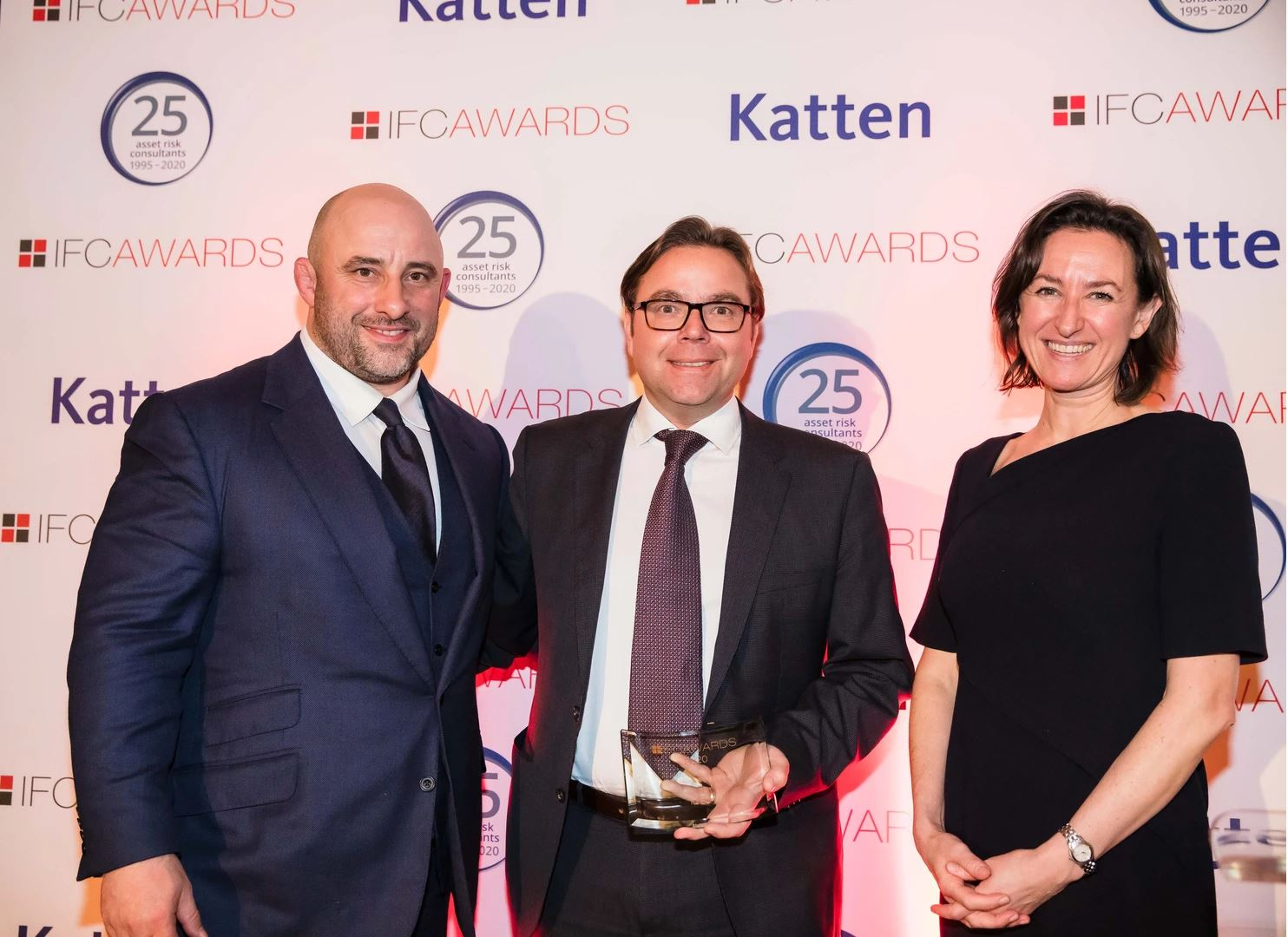Group Head of Private Wealth, Steve Sokic, collecting the award