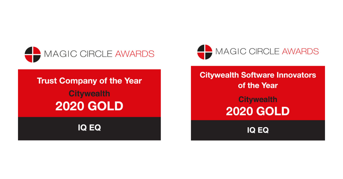 IQ-EQ has won Gold for 'Trust Company of the Year' and 'Software Innovators of the Year' at Citywealth Magic Circle Awards