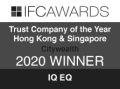 IFC Awards Trust Company of the Year Hong Kong & Singapore 2020