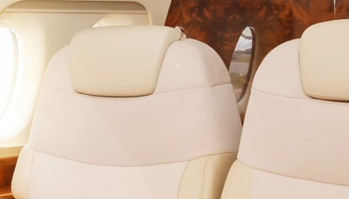 Private jet interior crop