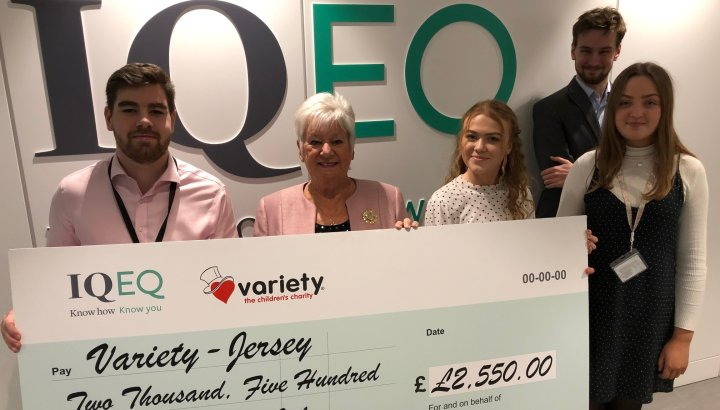 IQ-EQ Jersey donate to Jersey Variety